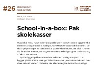 School-in-a-box: Pak skolekasserne!